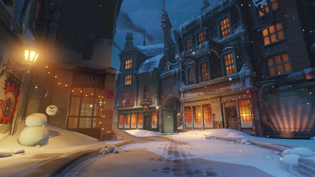 Скриншот с зимней версии карты Кингс Роу